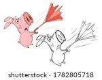 illustration of a cute cartoon ... | Shutterstock . vector #1782805718