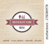 restaurant menu | Shutterstock .eps vector #178280978