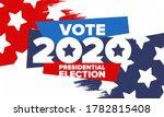 presidential election 2020 in... | Shutterstock .eps vector #1782815408