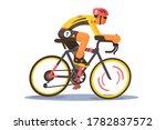 sport athlete cyclist vector...   Shutterstock .eps vector #1782837572