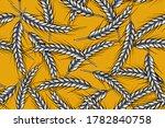 Seamless Pattern Of Wheat Ears  ...