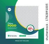 food menu facebook post banner...   Shutterstock .eps vector #1782891005