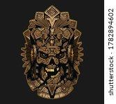 aztec ornament skull mask... | Shutterstock .eps vector #1782894602