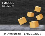 parcels  boxes floating in the...   Shutterstock .eps vector #1782962078