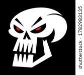 evil skull bony head cartoon... | Shutterstock .eps vector #1782983135