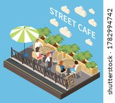 colored and isometric street... | Shutterstock .eps vector #1782994742