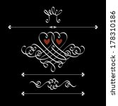 vector set of calligraphic... | Shutterstock .eps vector #178310186