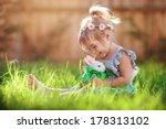 Cute Little Girl With A Bunny...