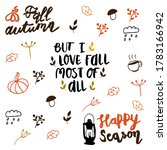 hand drawn autumn quotes and... | Shutterstock .eps vector #1783166942