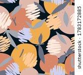 orange seamless pattern mixed...   Shutterstock .eps vector #1783172885