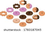 isometric illustration of donut ... | Shutterstock .eps vector #1783187045