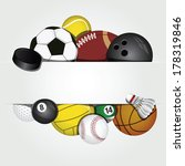 vector set of sport balls | Shutterstock .eps vector #178319846