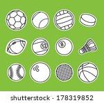 vector set of sport balls | Shutterstock .eps vector #178319852