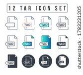 Tar File Format Icon Set. 12...