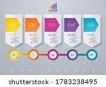 5 steps timeline infographic... | Shutterstock .eps vector #1783238495