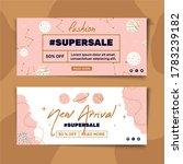 banner template fashion sale...   Shutterstock .eps vector #1783239182