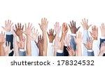 Diversity Of Business Hands...