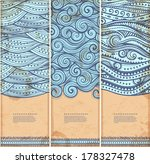 vintage set of banners with... | Shutterstock .eps vector #178327478
