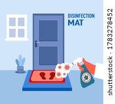 hand holding disinfecting... | Shutterstock .eps vector #1783278452