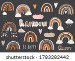 cute chalkboard doodle boho...   Shutterstock .eps vector #1783282442