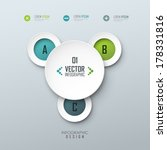vector template for infographic ... | Shutterstock .eps vector #178331816