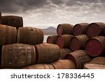Stacked Whisky Barrels One Too...