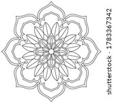 simple mandala shape for... | Shutterstock .eps vector #1783367342