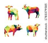 livestock animal set in... | Shutterstock .eps vector #1783379585