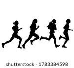 young athletes run a marathon.... | Shutterstock .eps vector #1783384598