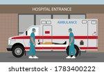 two medical orderlies in... | Shutterstock .eps vector #1783400222