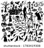 set of halloween elements.... | Shutterstock .eps vector #1783419308