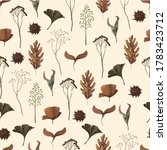 Seamless Pattern With Wild And...