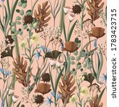 seamless pattern with wild and... | Shutterstock .eps vector #1783423715