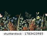 border with wild and dried... | Shutterstock .eps vector #1783423985