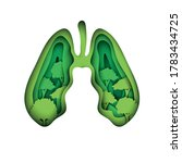 Lungs With Trees As Symbol Of...