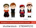 slovenia  albania. men and... | Shutterstock .eps vector #1783449152