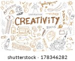Creativity and Innovation Doodle Collection Vector