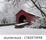 Covered Bridge On A Snowy Day
