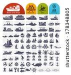 Ships And Boats Icons Bulk...