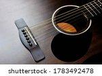 Acoustic Guitar On Black...