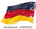 german flag grunge. flag of ... | Shutterstock .eps vector #178350512