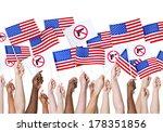 diversity of hands holding gun...   Shutterstock . vector #178351856