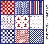 Set Of  Geometric Patterns In...