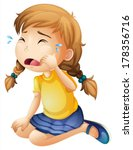 alone,baby,blue,cartoon,child,clip-art,clipart,cry,daughter,dollshoes,down,drawing,female,girl,graphic