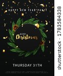 merry christmas party flyer... | Shutterstock .eps vector #1783584338