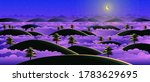 the hill at night has a... | Shutterstock .eps vector #1783629695