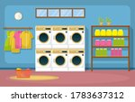 laundromat clothes washing... | Shutterstock .eps vector #1783637312