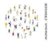 different people walking... | Shutterstock .eps vector #1783641638
