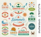 summer design elements and... | Shutterstock .eps vector #178371776