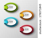 abstract vector banners set  | Shutterstock .eps vector #178371845